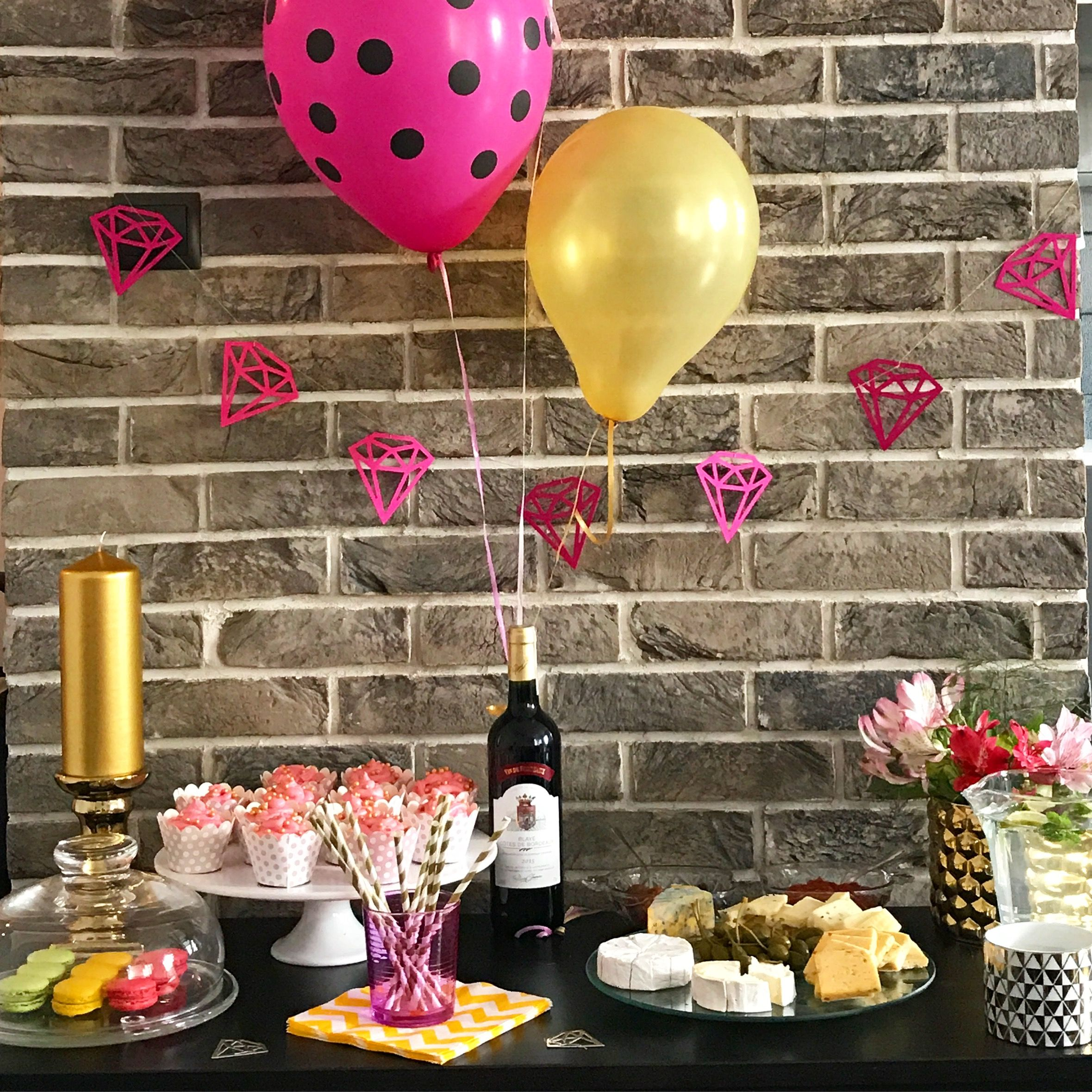 Pink And Gold Bachelorette Party Decorations Source Grandandcentral