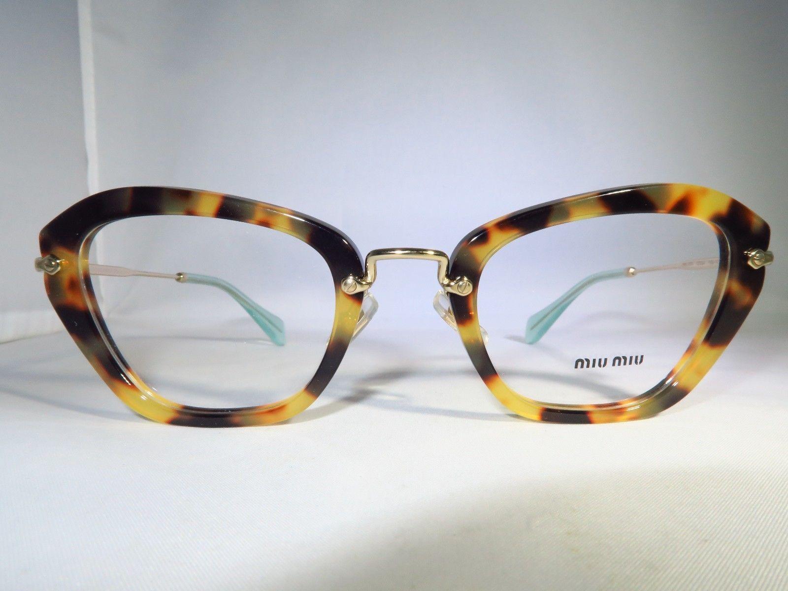 miu miu vmu 05n 7s0 1o1 spotted tortoise new women eyeglasses 50mm 24mm 140mm ebay - Ebay Glasses Frames