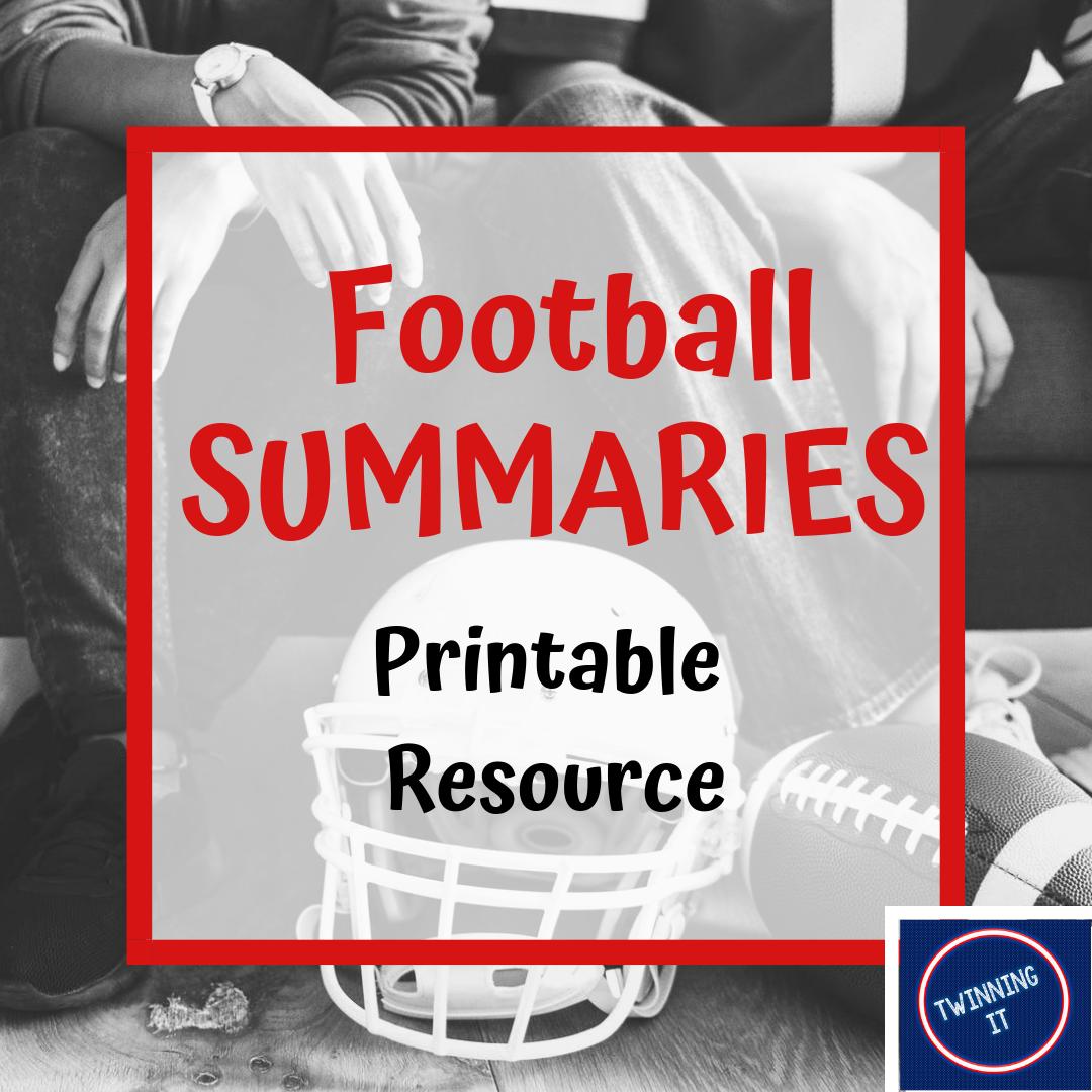 Summaries Passages Sorts Worksheets Football Themed