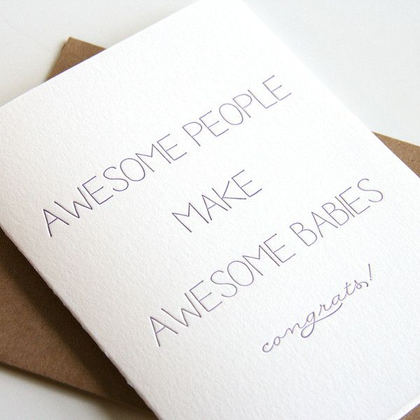 Attractive Awesome Babies Card