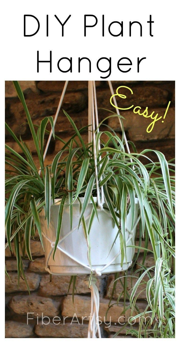 How to make an Easy Macrame Plant Hanger is part of Diy plant hanger easy, Diy plant hanger, Diy macrame plant hanger, Plant hanger, Macrame plant hanger tutorial, Macrame plant hanger - DIY Macrame Plant Hanger  Instructions for how to make an easy macrame plant hanger  Quick, easy and inexpensive way of hanging houseplants