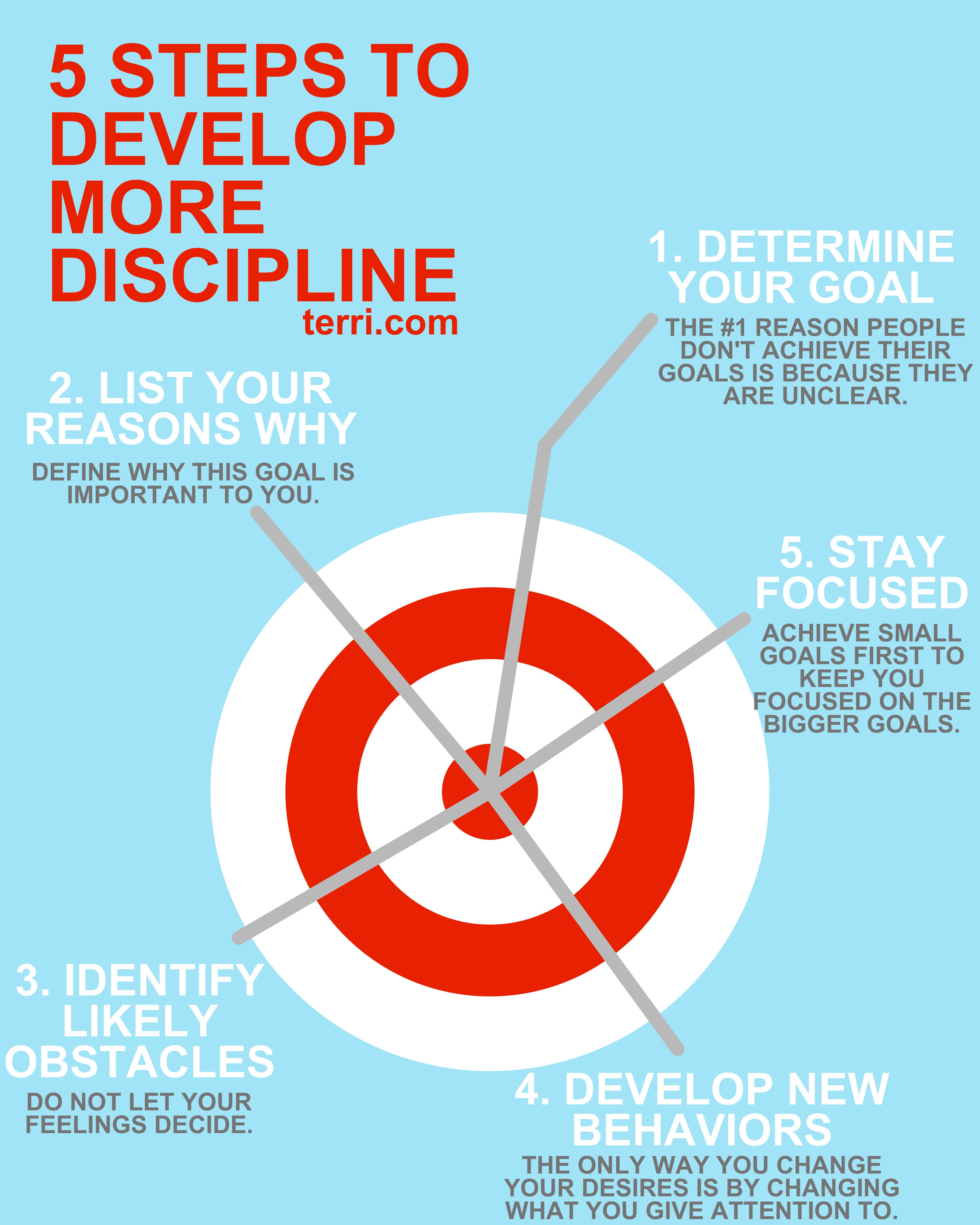 5 Steps to develop more discipline. This is one of my