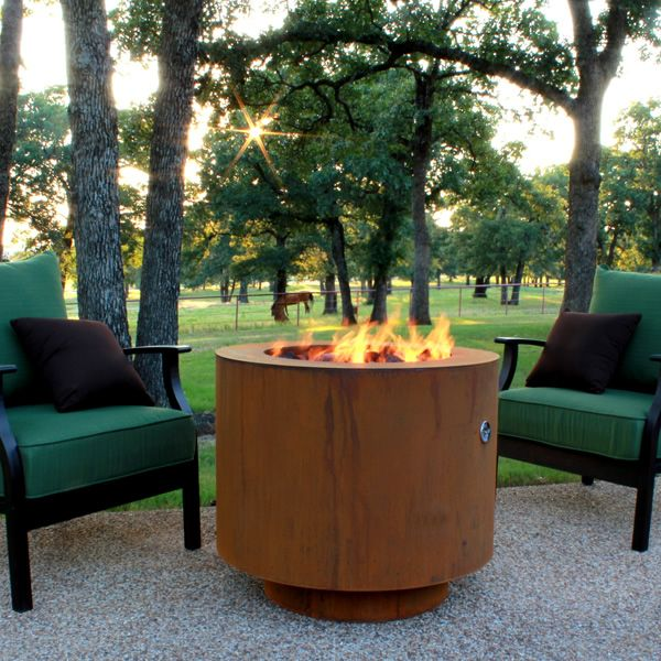 Bero Fia 30 Hidden Tank Fire Pit Corten Steel Woodlanddirect