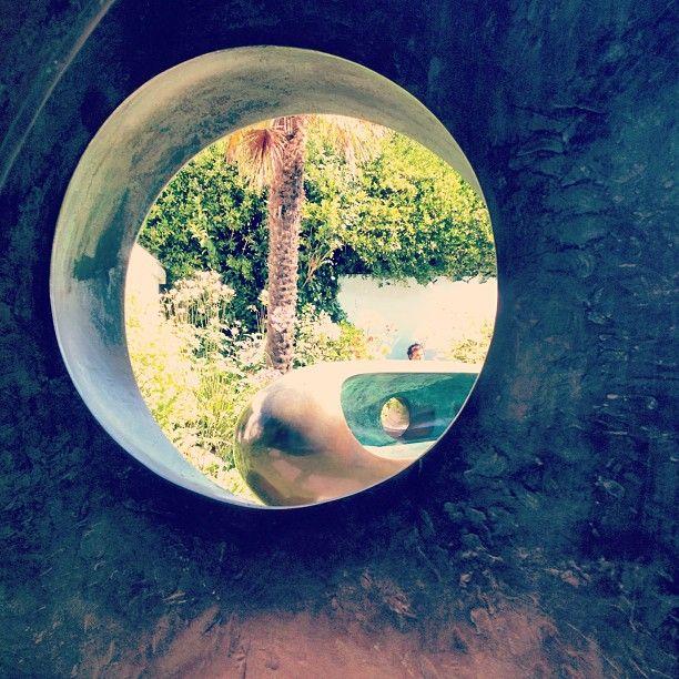 Barbara Hepworth garden in St Ives Cornwall  #Hepworth #hepworthstives Photo: daveyfole Instagram