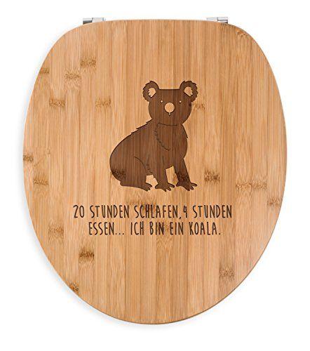 Mr. & Mrs. Panda WC Sitz Koala - 100% handmade aus Bambus - Koala, Koalabär, Beutelbär, Beuteltier WC Sitz, Klobrille, Toilettensitz, Klodeckel Koala, Koalabär, Beutelbär, Beuteltier