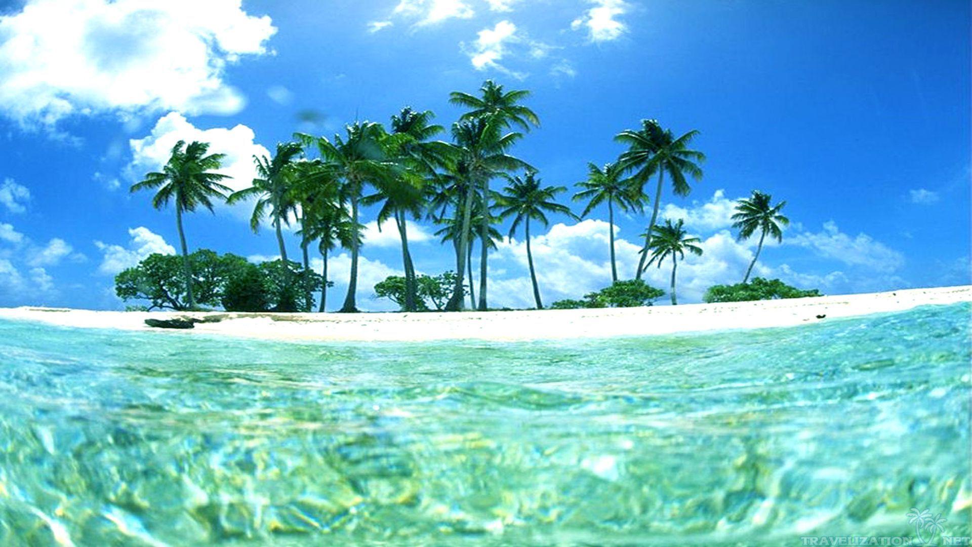 Tropical Island Sunset Wallpaper Desktop Background Epic