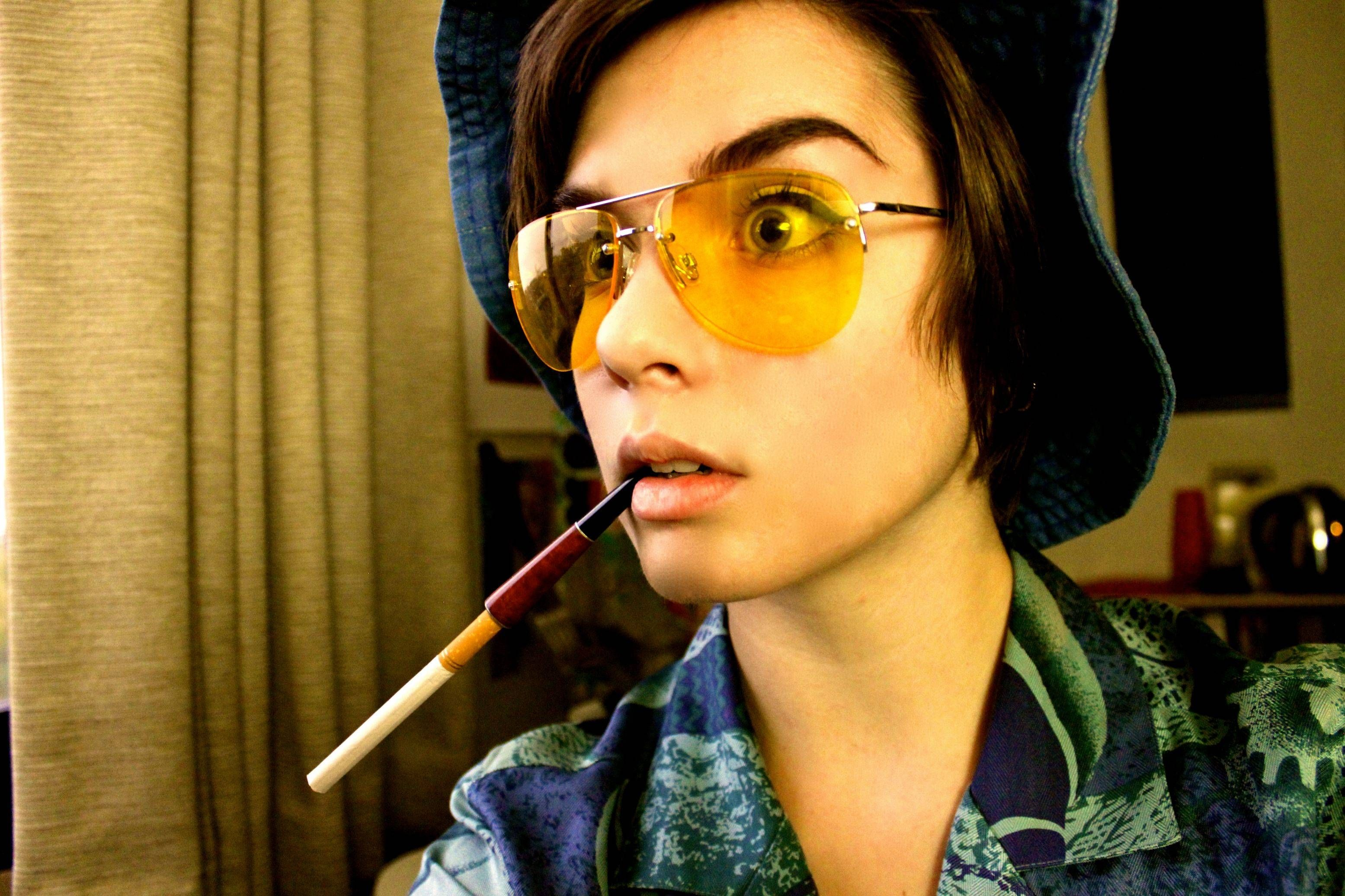 Fear and Loathing in Las Vegas Lady style. halloween