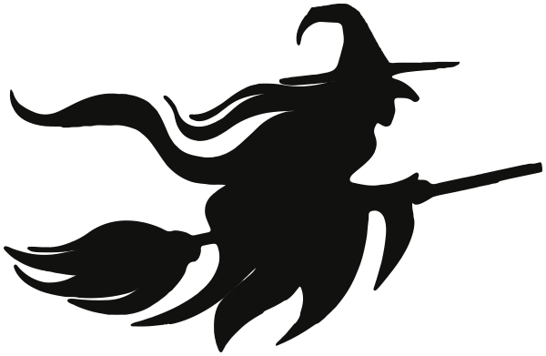 Flying Witch Silhouette Witch Silhouette Halloween Stencils Halloween Silhouettes
