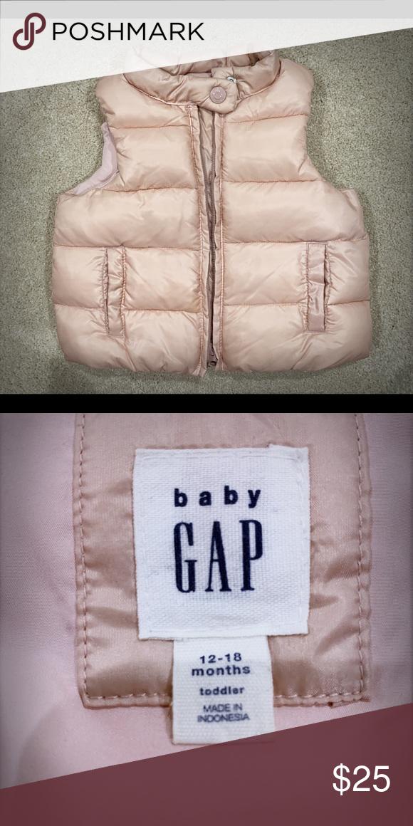 513476ba3eed GAP Baby Girl Puffer Vest GAP Baby Girl Puffer Vest 12-18m Like New ...