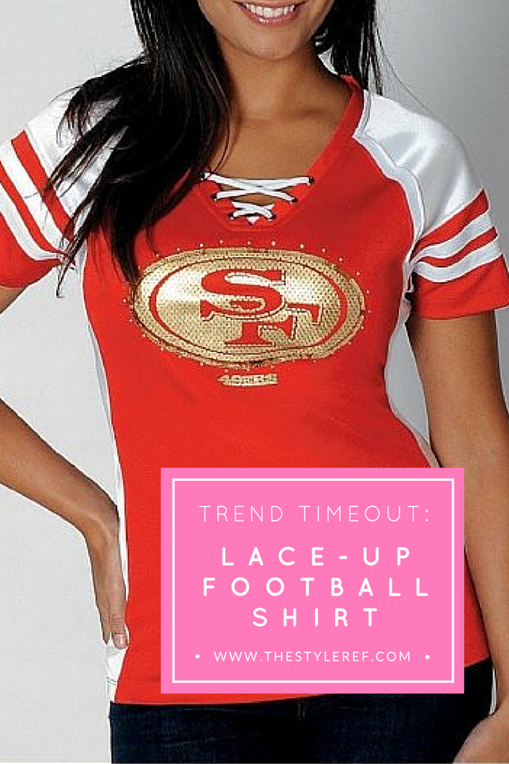 Lace-Up  Football Shirt for  NFL and  NCAA Teams.  5355cecb0