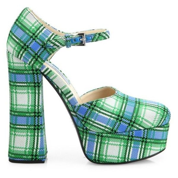 Prada Checkered Platform Pumps buy cheap store WtvPTMx