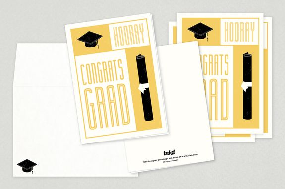 Graduation Congratulations Greeting Card Template  A Crisp