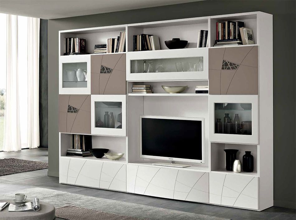 Modern Wall Units modern tv wall units for living room designs - image 09 : white