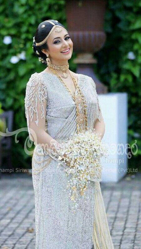 Divyanka tripathi as sri lankan bride beautiful for Sri lankan wedding dress