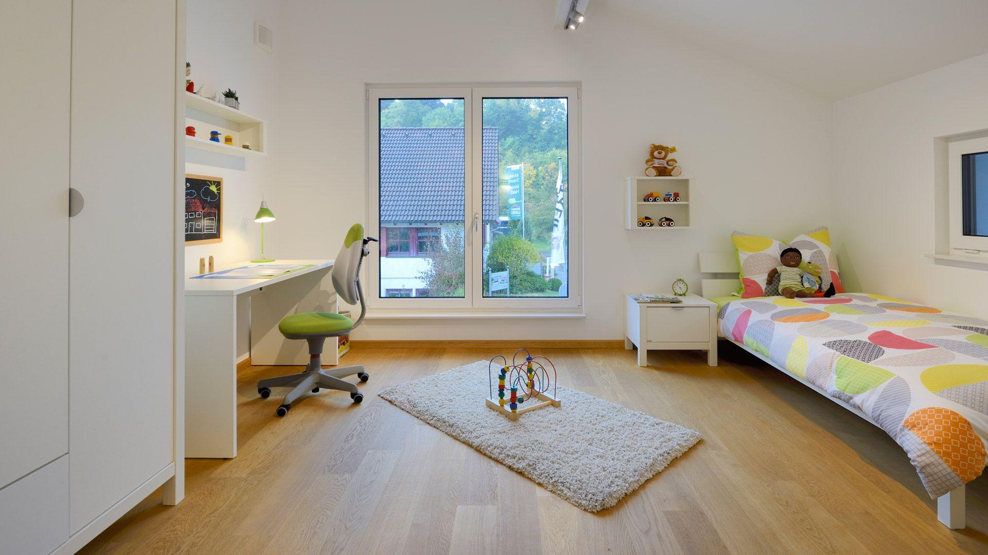 Das Kinderzimmer im Musterhaus Ulm im Hausbau Center in