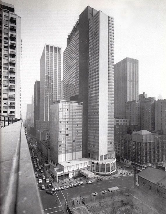 1969 The Americana Hotel From 1700 Broadway : Currently