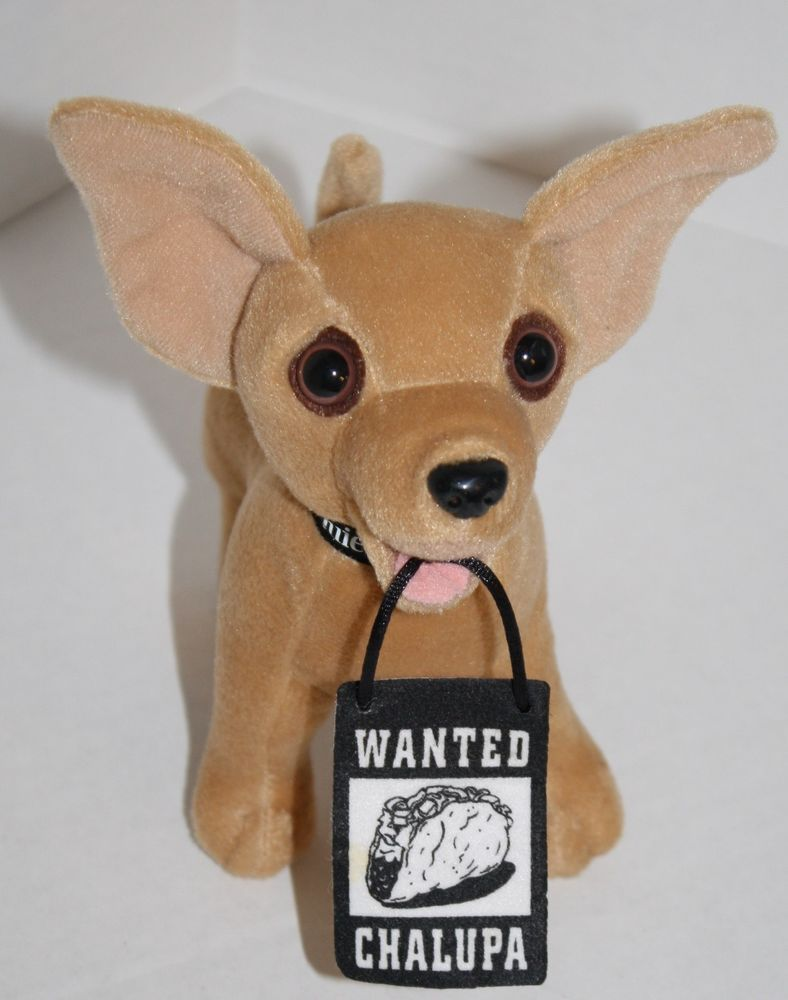 Taco Bell Chihuahua Talking Plush DROP THE CHALUPA NEW//Talking