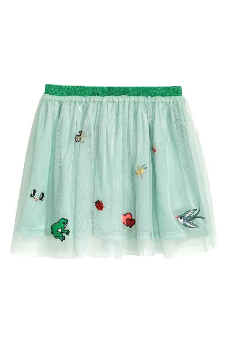 81ef95c25 Falda de tul con aplicaciones   Ropa para niñas   Faldas para niñas ...