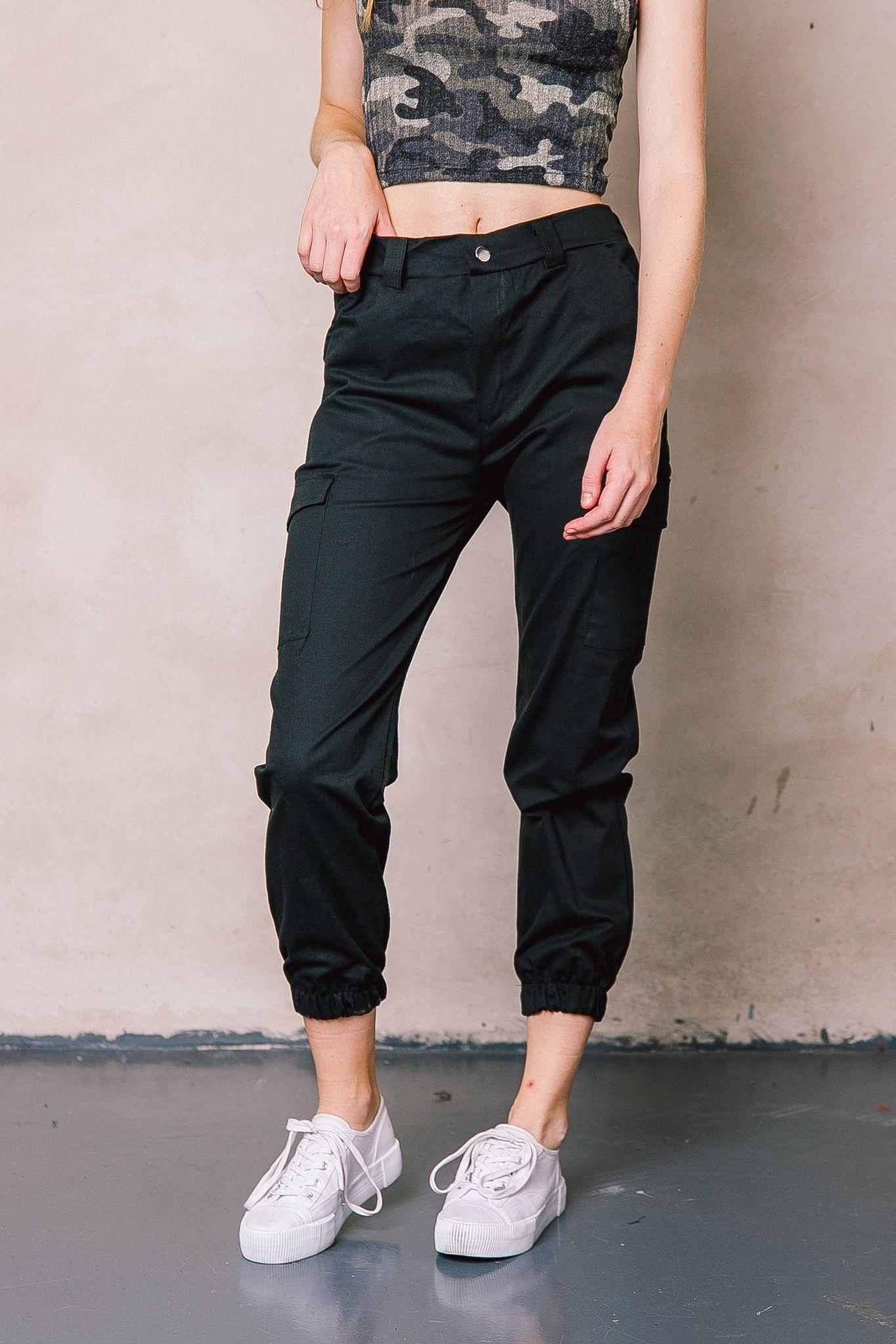 19inp030 Pantalon Cargo Nina Pantalones Cargo Mujer Pantalones De Moda Ropa