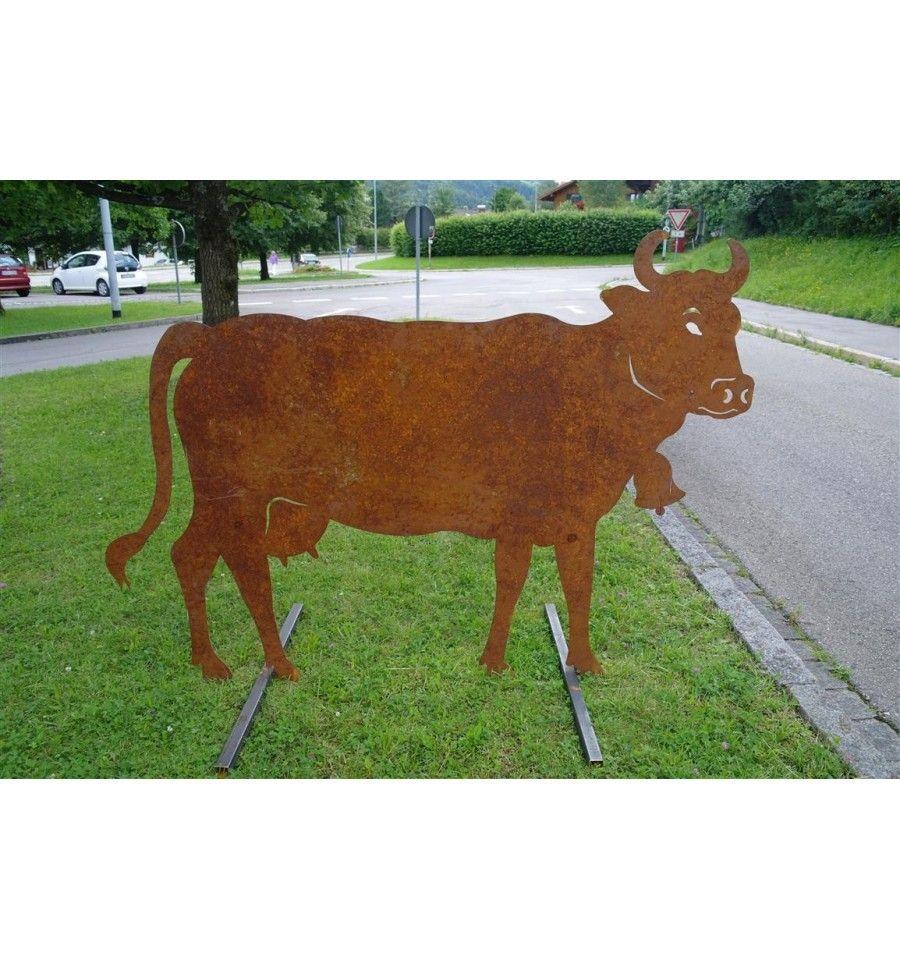 Deko Kuh Lebensgross 140 X 200 Cm Tiere Edelrost Tierfiguren