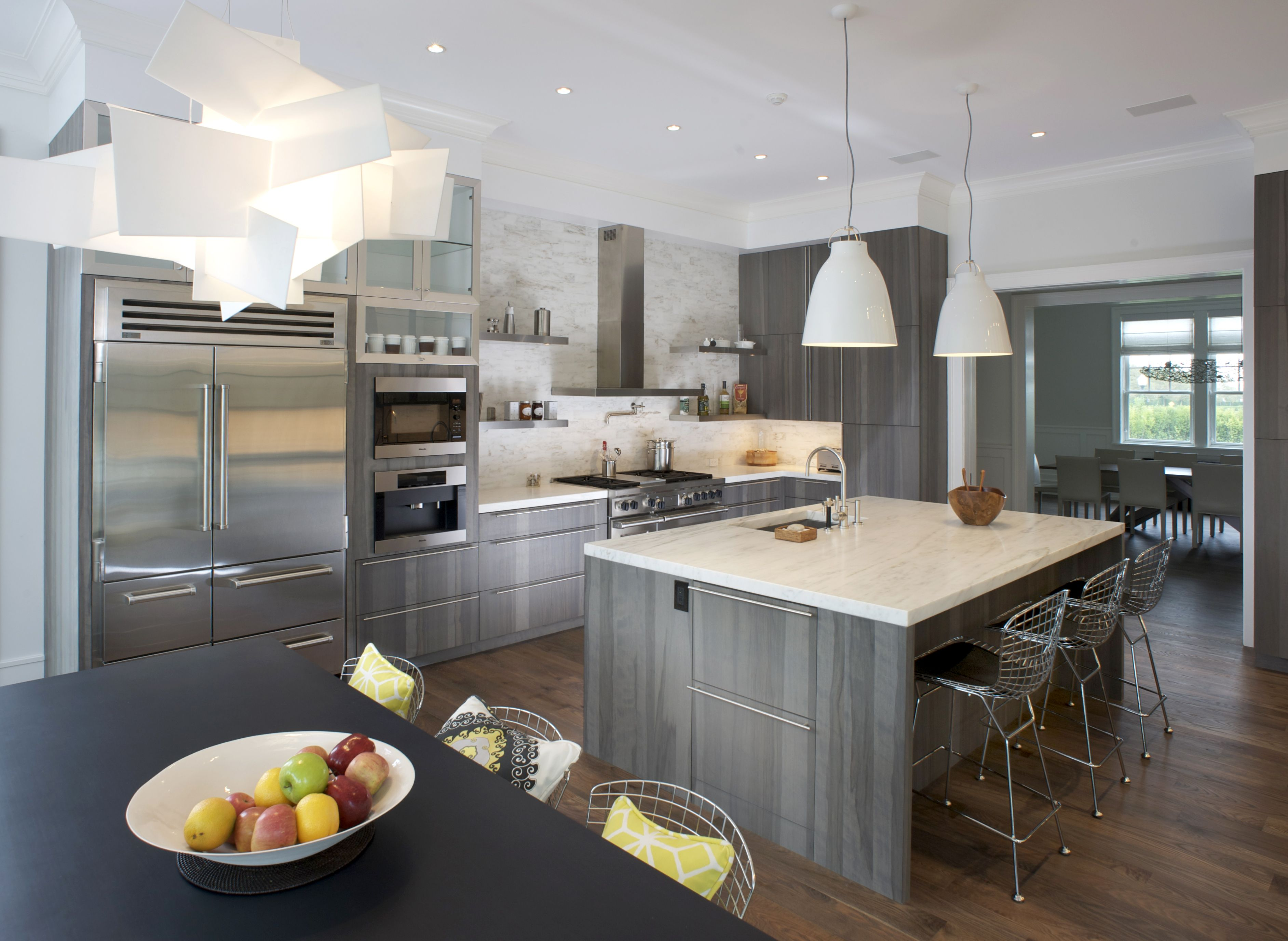 Custom Cabinetry By East End Country Kitchens Modern Gray Kitchen