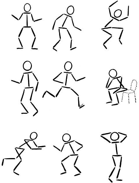 Drawing Cartoon Matchstick People Stick Figure Drawing Easy