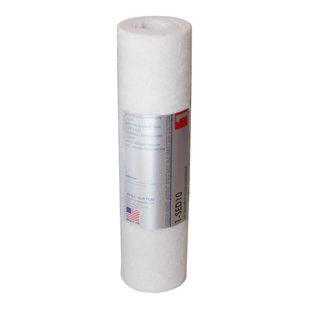 Apec Water Systems Ultimate 10 In 5 Micron Sediment Replacement Filter Products Water Filter Cartridge Water Filtration System Osmosis Water Filter