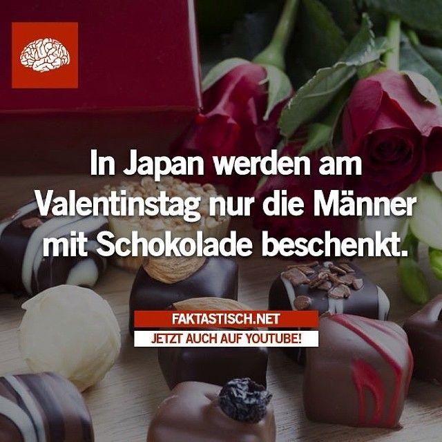 In Japan werden am Valentinstag nur die Männer mit Schokolade beschenkt.
