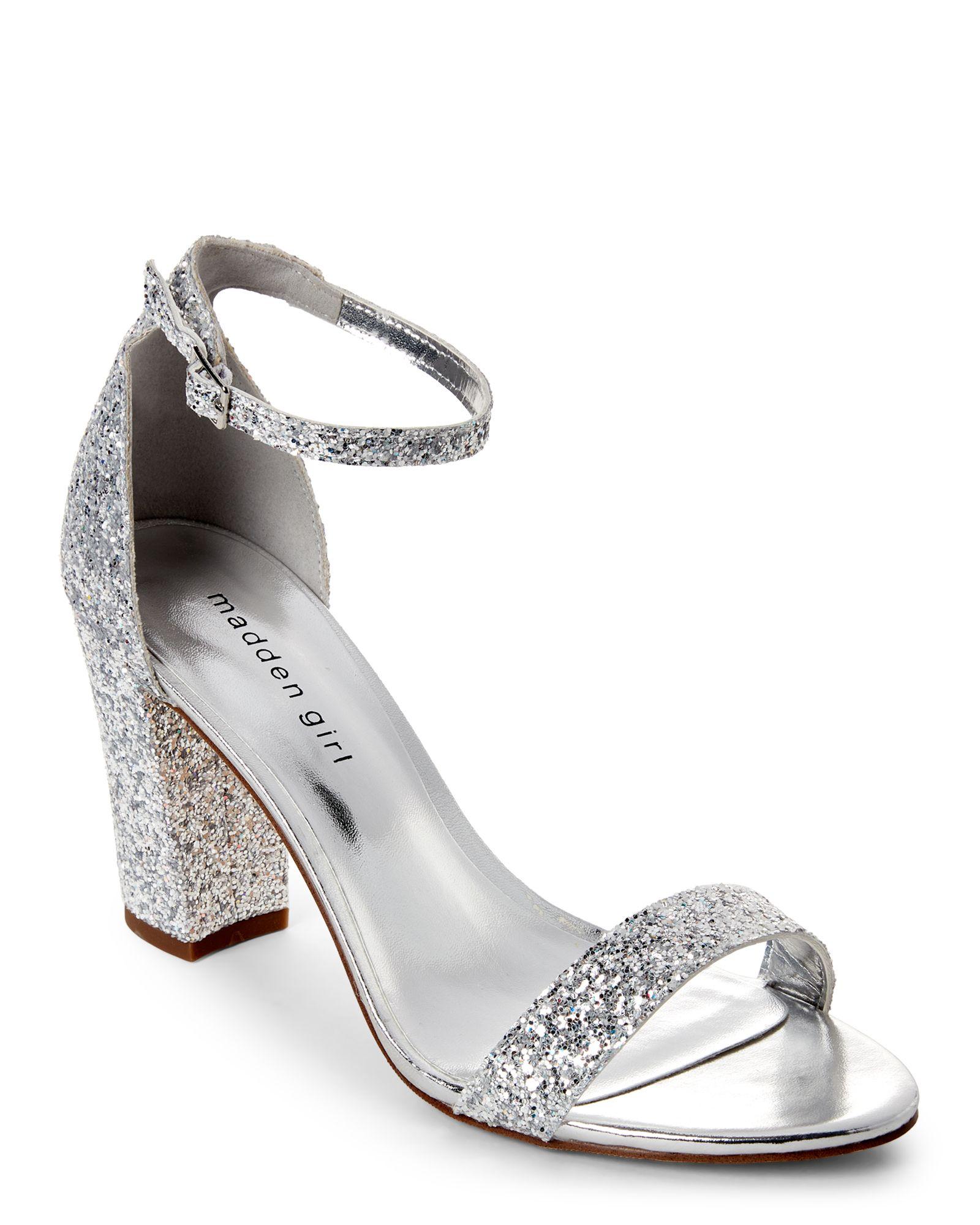 ecbf51a9bfcb Silver Bella Glitter Open Toe Heels | Quinceanera ideas | Heels ...
