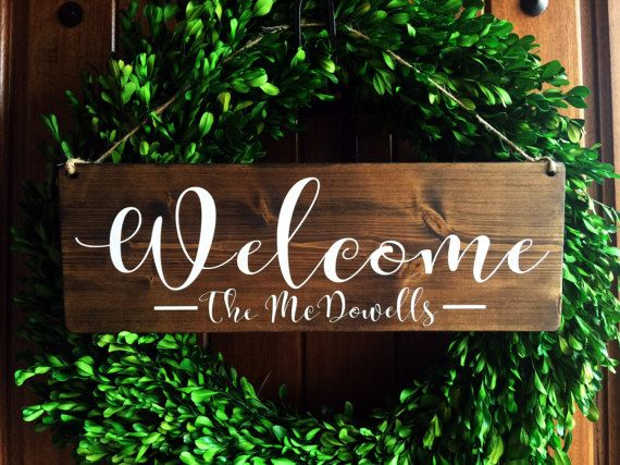 Welcome Sign Welcome Door Sign Personalized Sign Family Etsy In 2020 Welcome Door Signs Door Signs Personalized Signs Family