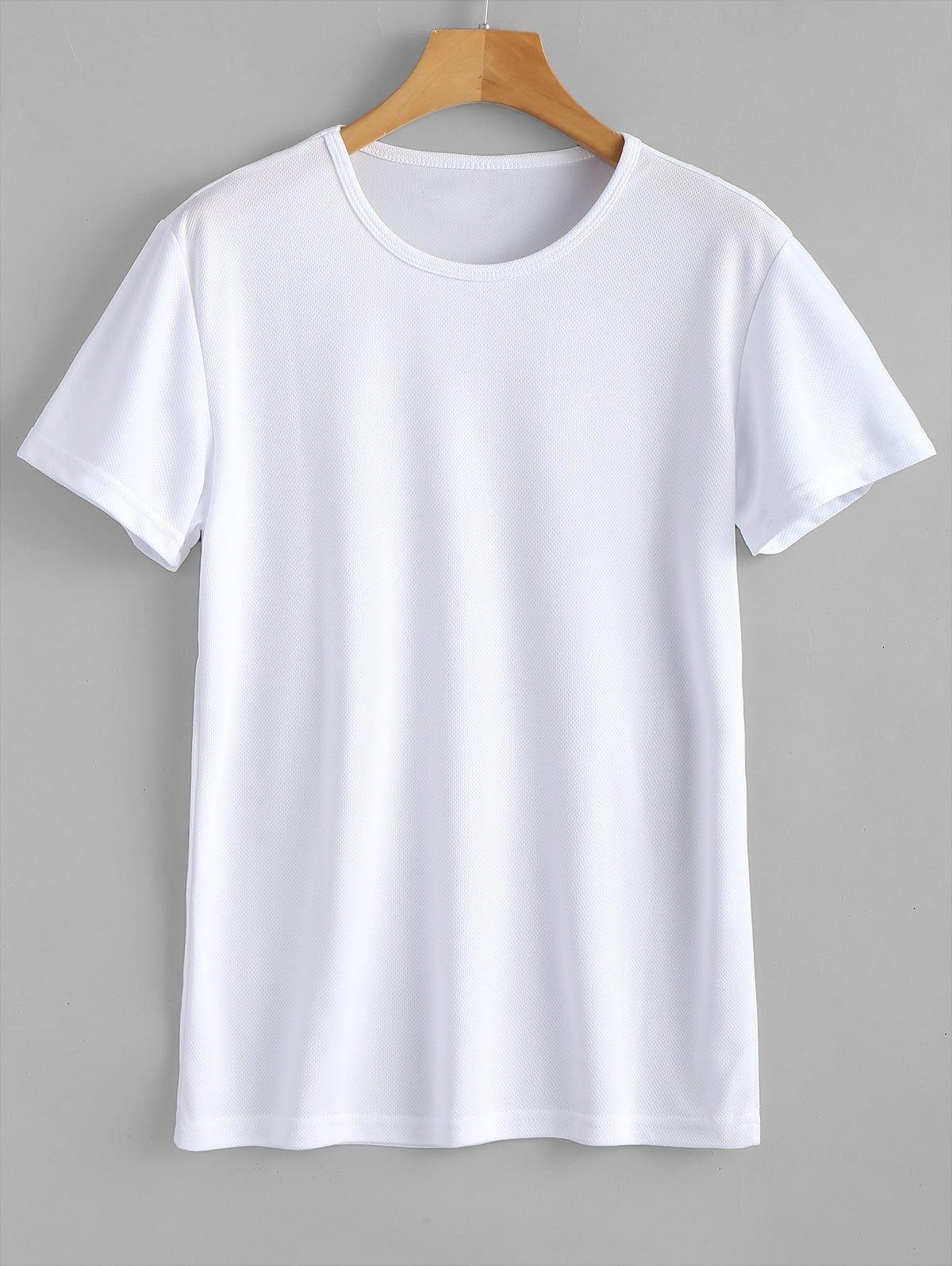 Waterproof Eyelet Sport T Shirt Black White Affiliate Sport Eyelet Waterproof White Black Ad Baju Kaos Baju Sweter Gaya Model Pakaian Korea