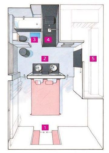 Efficient Little Plan Bedroom Floor Plans Bathroom Layout House Layouts