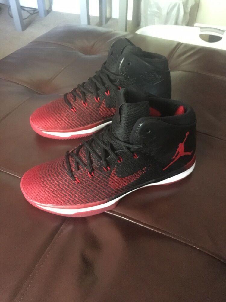 newest 06cba b3183 Air Jordan XXXI 31 SZ 10 Mens Black Red Bred Banned Retro OG Chicago 845037-