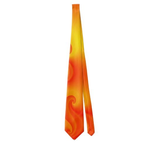 Hot Red Curls of Flames Neck Tie