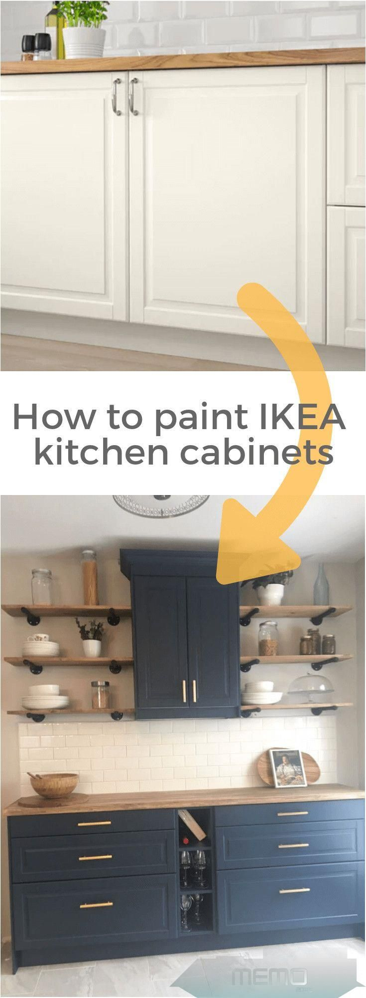Mar 4 2019 Here S Our Ikea Painted Kitchen Cabinets For Our Custom Kitchen Nook On An Open Wall We Wan In 2020 Painting Kitchen Cabinets Kitchen Paint Kitchen Nook