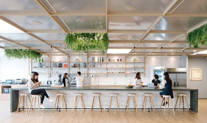 An inspiring workplace influenced by  variety of different themes section business goals hospitality design also rh za pinterest