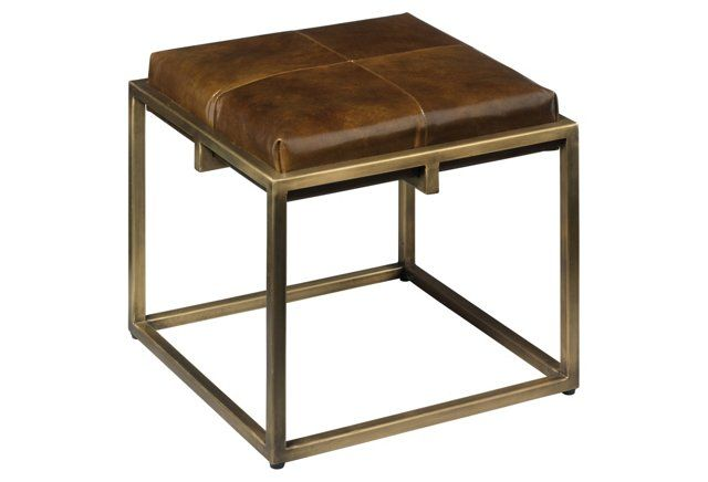 Shelby Stool, Tobacco Leather