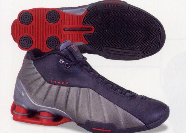 nike court black and red nike shox