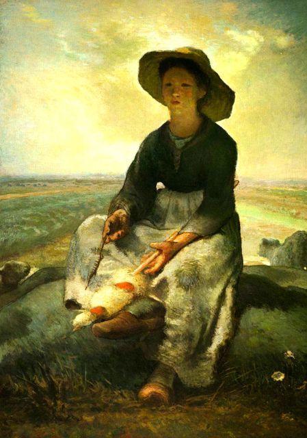 jean-françois-millet-la-petite-bergere-peinture-tableaux-galerie-arts-decoration-bretagne-auray-golfe-morbihan-attention-a-la-peinture-jean-jacques-rio.jpg (449×640)