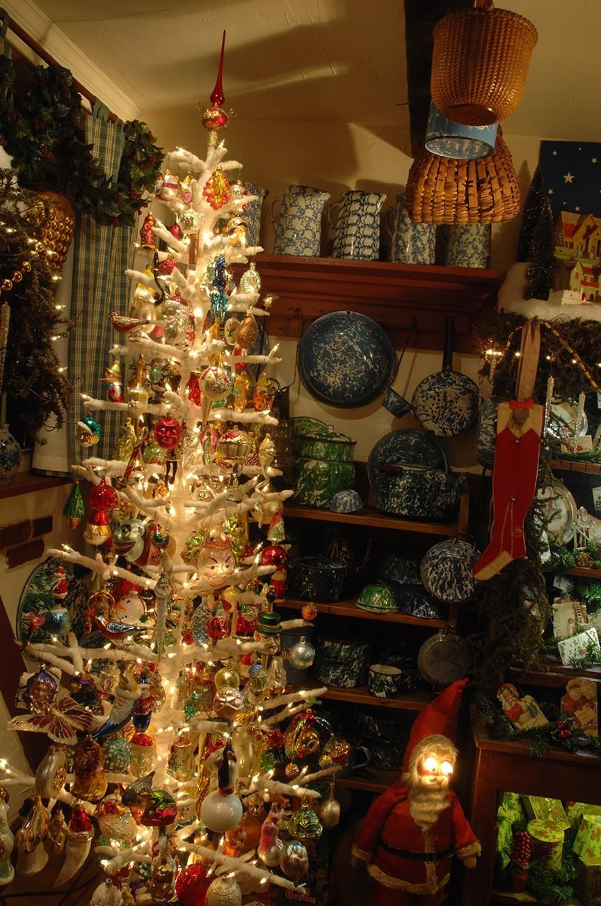 Pin By Tesse S Attic On Antique Christmas Trees Antique Christmas Tree Christmas Tree Collection Antique Christmas
