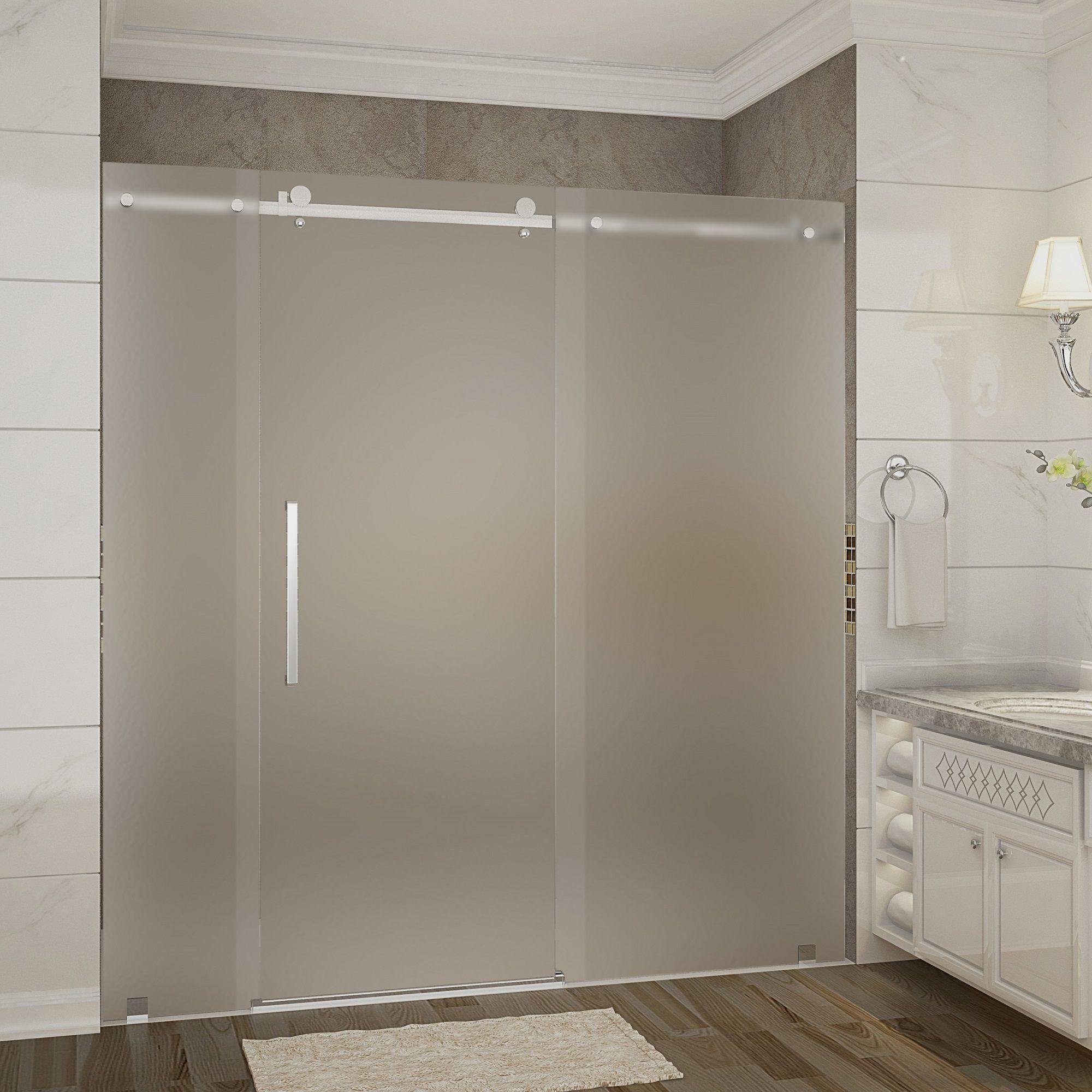 Sdr976 Moselle 72 X 75 Completely Frameless Sliding Shower Door