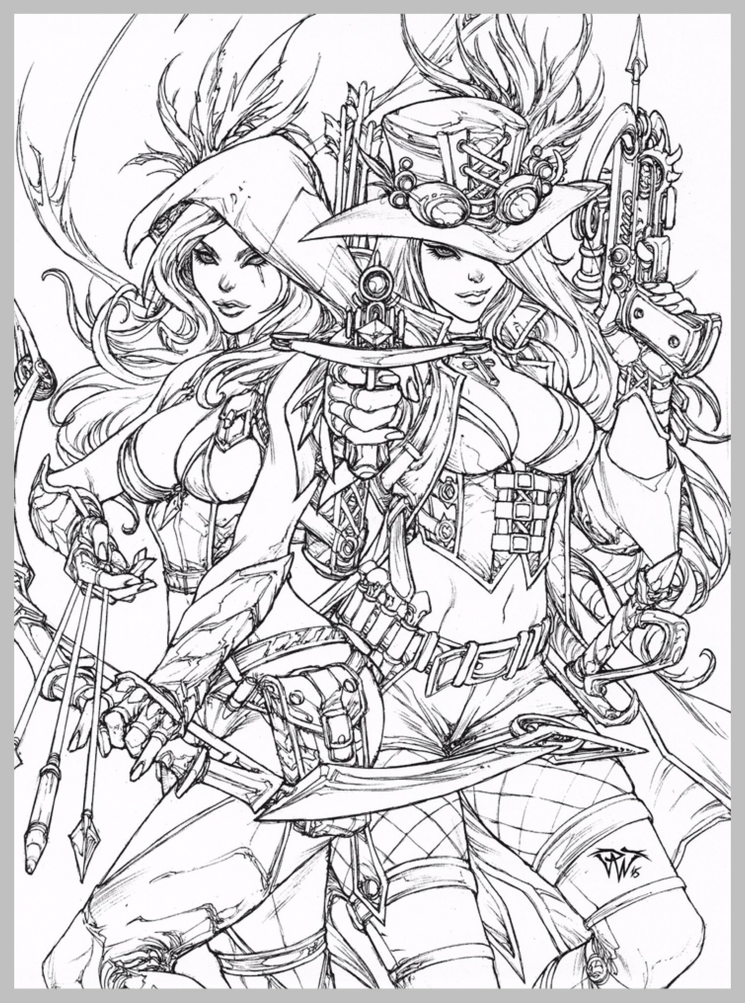 Pin By Acrine On Coloring Books Fairy Coloring Pages Steampunk Coloring Fairy Coloring