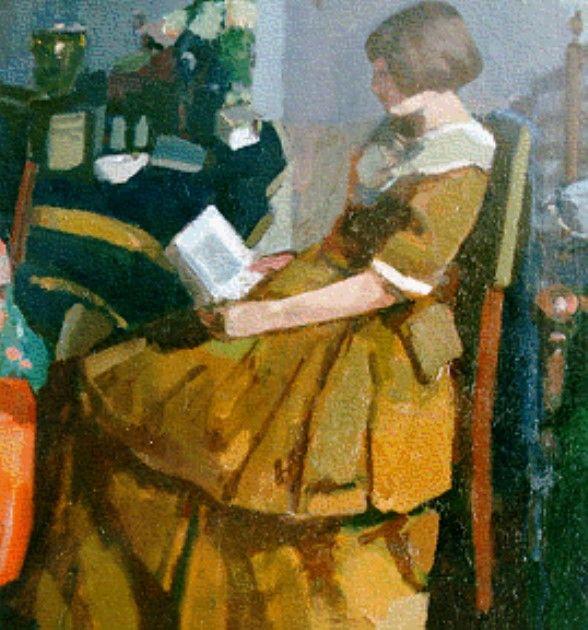 Kees Verwey (Amsterdam 1900-1995 Haarlem) Lezend meisje - Kunsthandel Simonis en Buunk, Ede (Nederland).