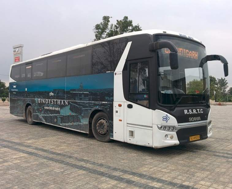 Rajasthan state road transport corporation Deluxe Depot Scania metro link 12 M