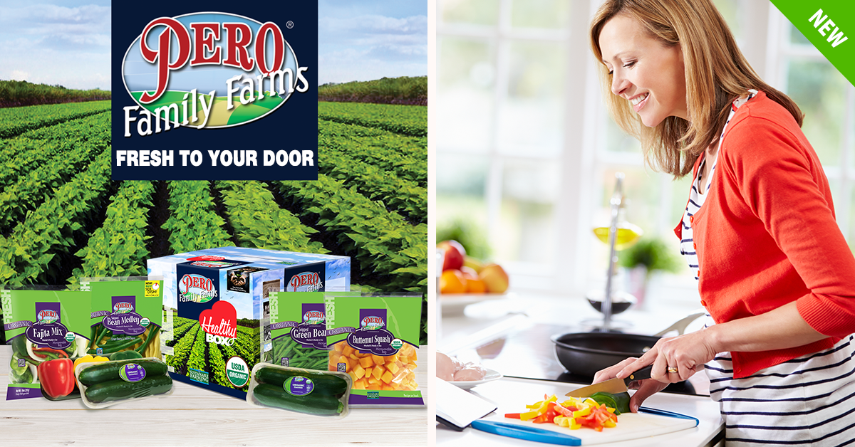 2f0103991f08 Pero Family Farms  Organic Healthy Box includes everything from fresh-cut  vegetables in microwavable