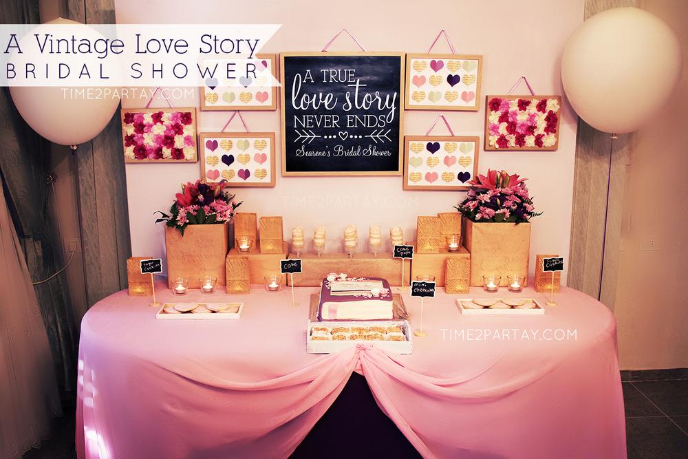 A Vintage Love Story Bridal Shower   CatchMyParty.com