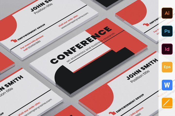 Conference Business Card 441151 Business Cards Design Bundles In 2021 High Quality Business Cards Unique Business Cards Business Card Template Design