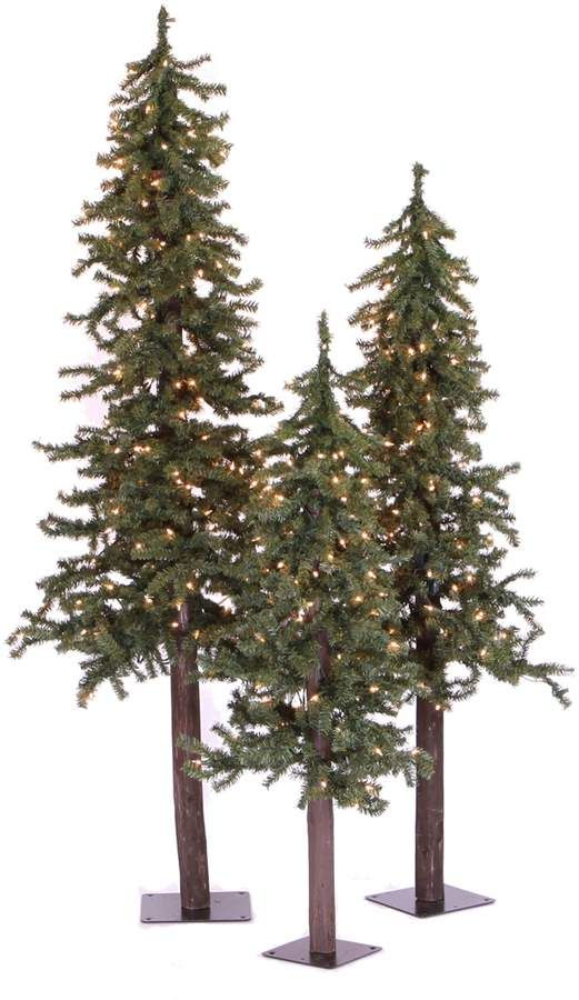 Vickerman Natural Alpine Multi-Color Pre-Lit Christmas Tree Set