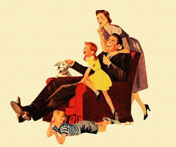 Pin by Leslea Parrish on Mid-Century: Family & Home Illustrations ...
