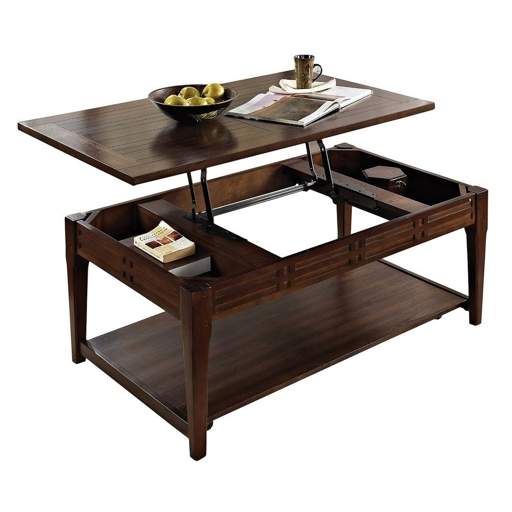 Crestline Lift Top Cocktail Table With Casters Mocha Cherry Steve Silver Rectangle Coffee Table Wood Coffee Table Coffee Table Wood [ 1000 x 1000 Pixel ]